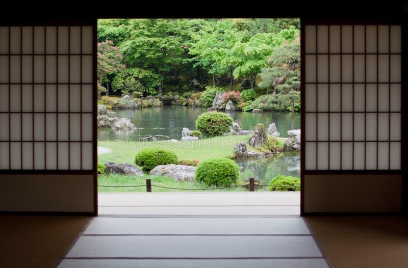Japanse tuin in Kyoto, Japan royalty-vrije stock foto