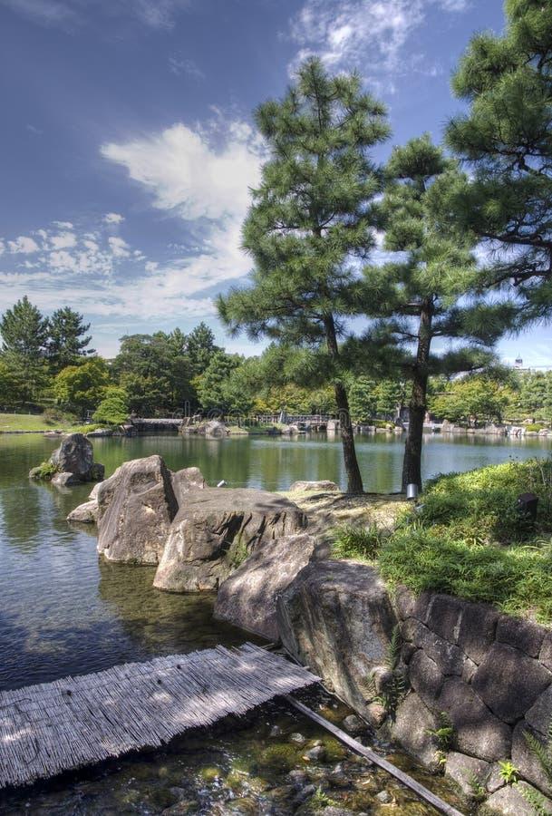 Japanse tuin, Nagoya, Japan stock foto's