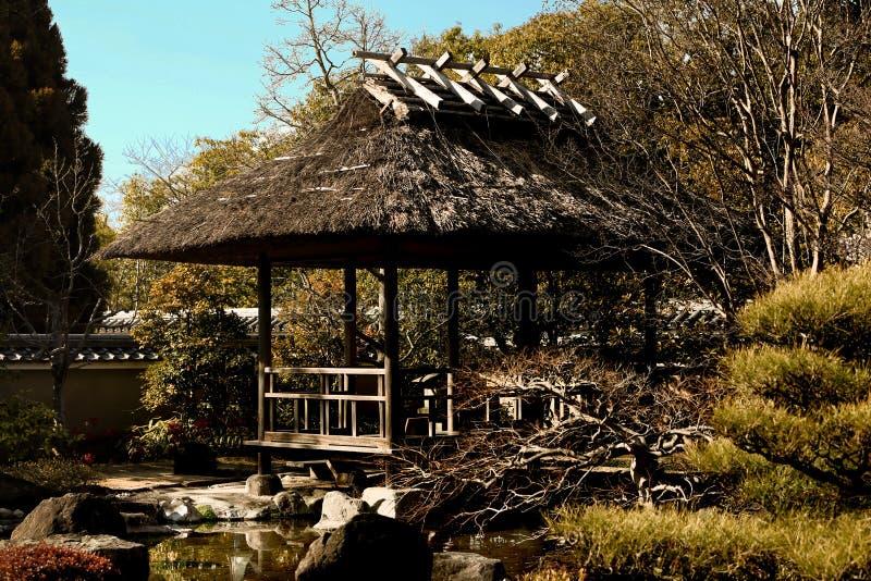 Japanse tuin - nihon teien royalty-vrije stock afbeeldingen