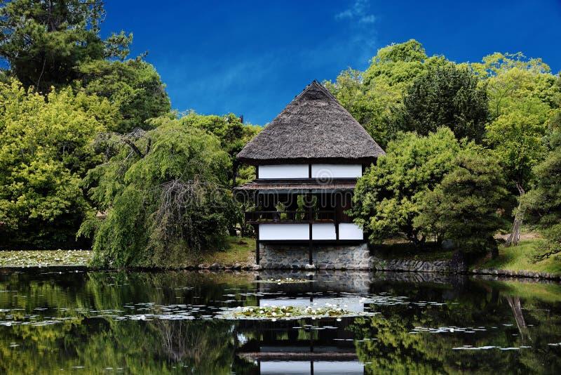 Japanse tuin - nihon teien stock afbeelding