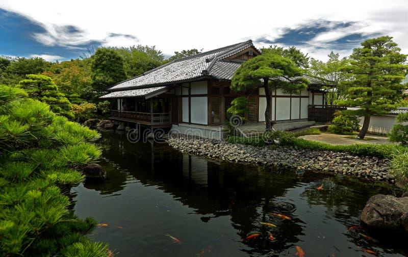 Japanse tuin - nihon teien royalty-vrije stock foto