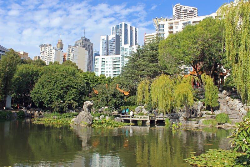 Japanse tuin, Sydney, Australië stock afbeeldingen