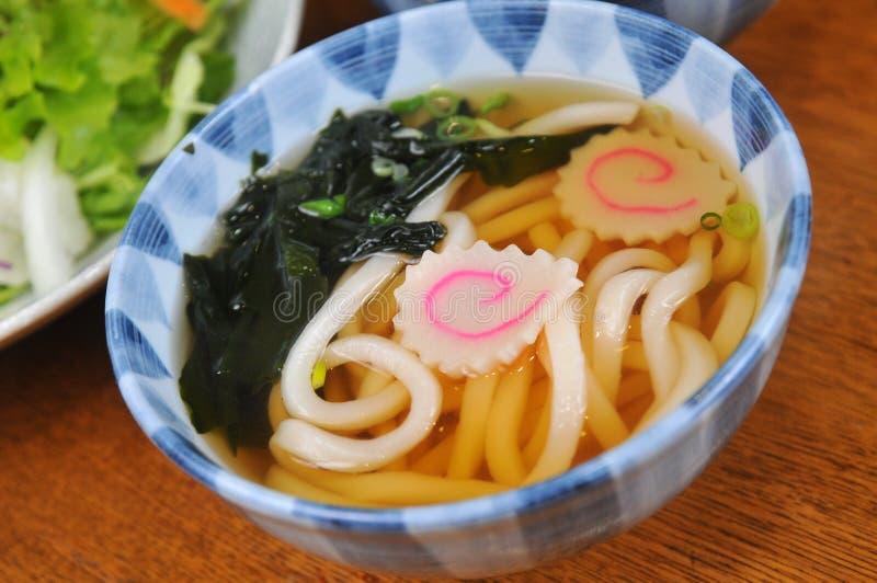 Japanse Udon-noedels royalty-vrije stock afbeelding