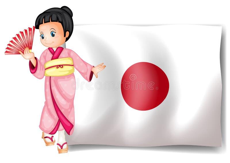 Japanse vlag stock illustratie