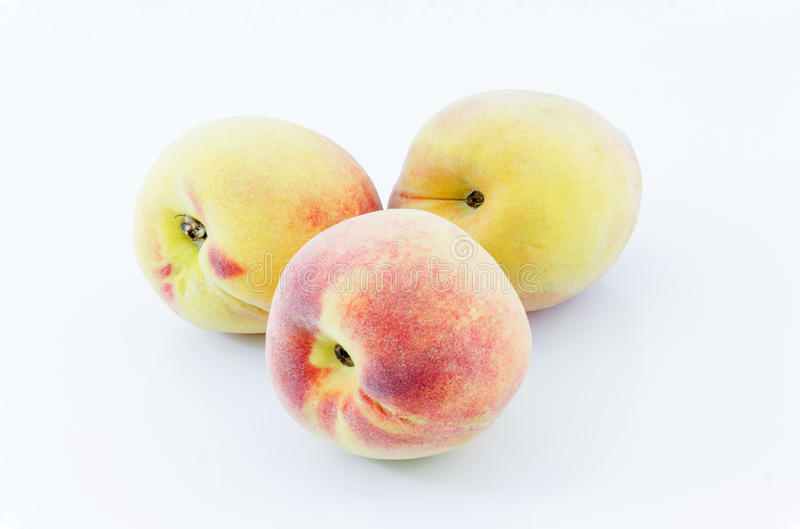 Japanse witte perziken royalty-vrije stock fotografie