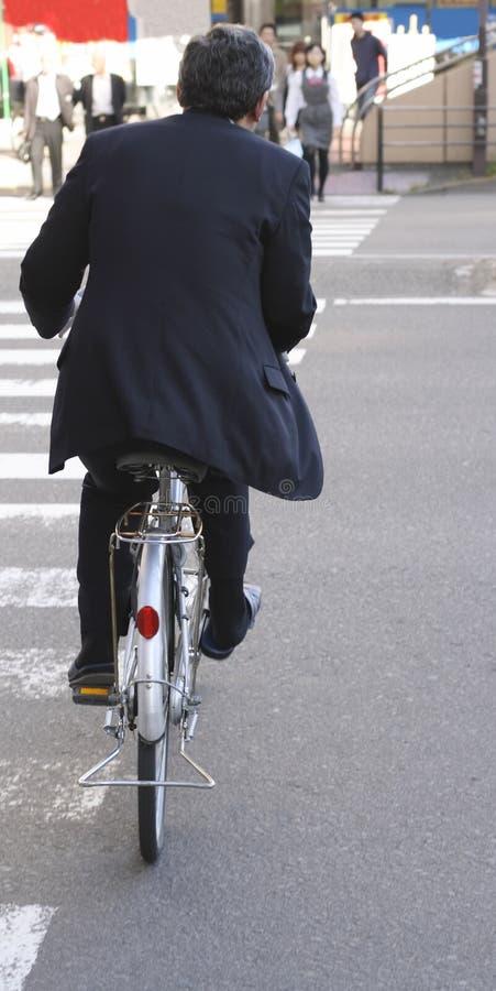 Japanse zakenman-lunch tijd?. stock afbeelding