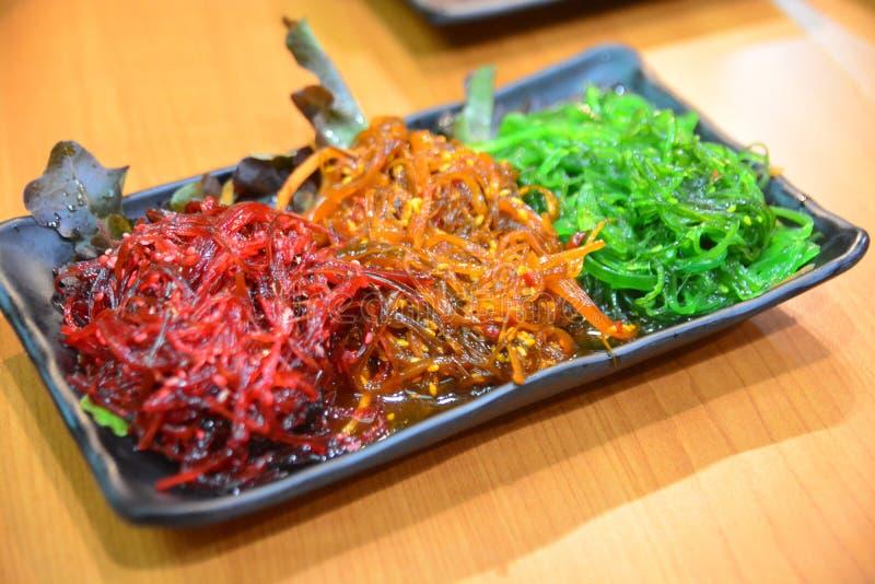 Japanse zeewiersalade royalty-vrije stock afbeeldingen