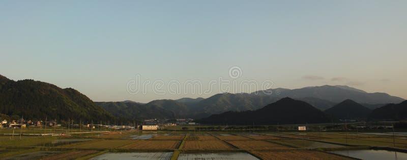 Japansk bergskedjasikt - Kyoto, Japan royaltyfria foton