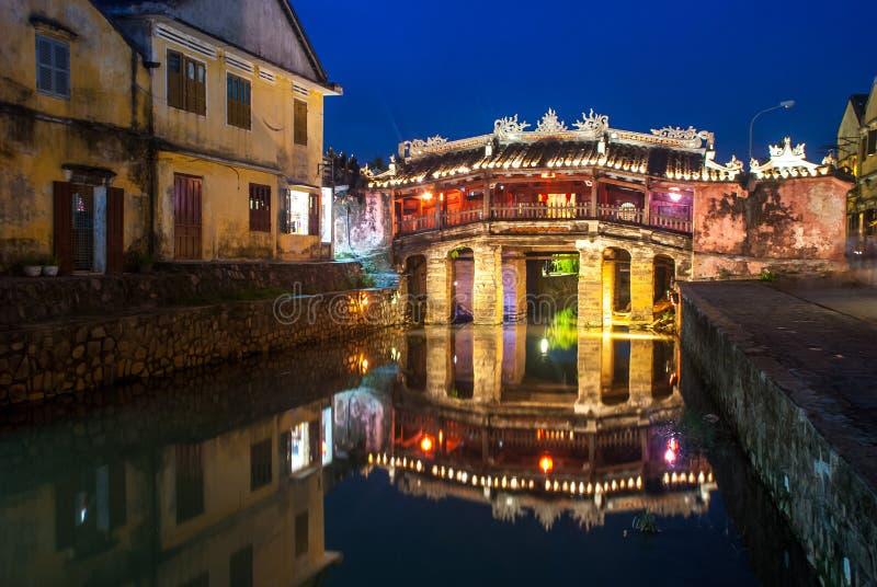 Japansk bro i den Hoi An Ancient staden, Vietnam arkivfoto