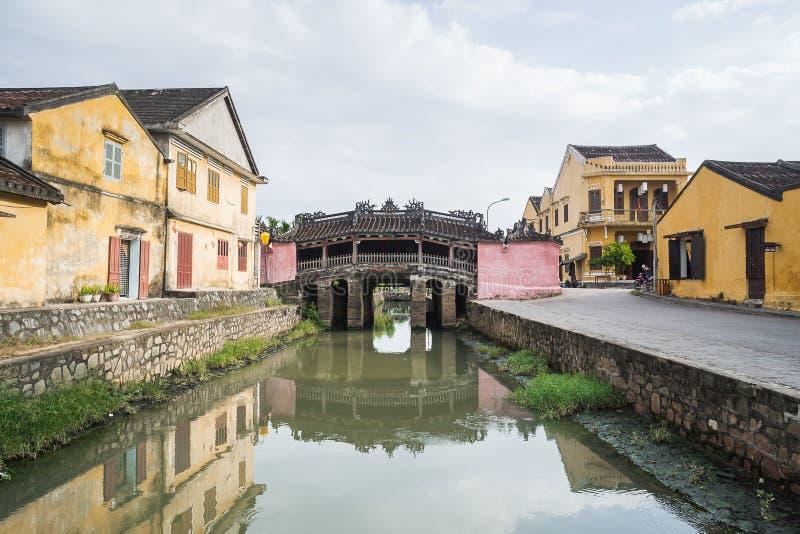 Japansk bro i Hoi An, Vietnam fotografering för bildbyråer