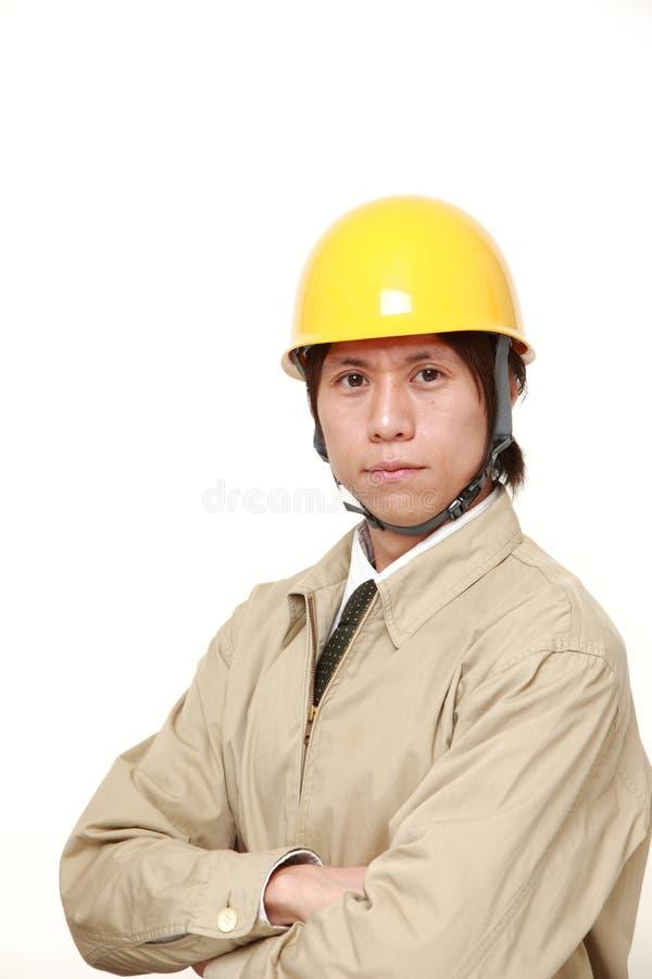 Japansk byggnadsarbetare royaltyfri bild