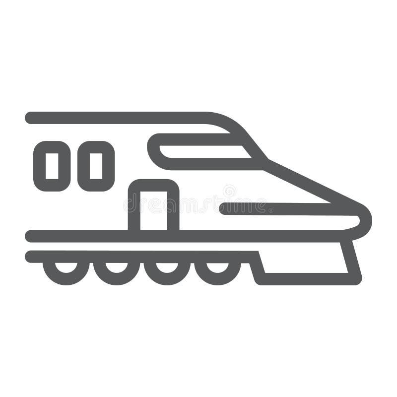 Japansk drevlinje symbol, asiat och järnväg, tecken för kuldrev, vektordiagram, en linjär modell på en vit bakgrund stock illustrationer