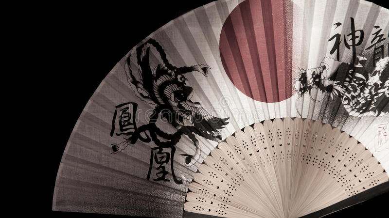 Japansk fan royaltyfria bilder