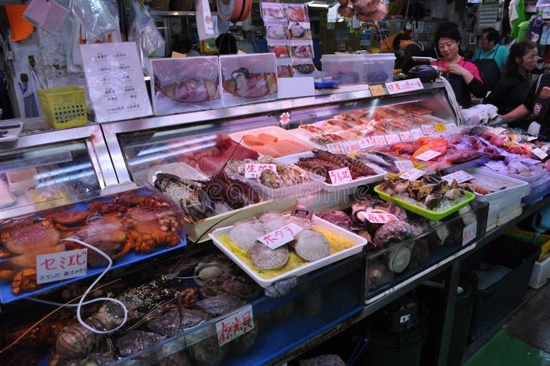 Japansk fiskmarknad royaltyfria foton