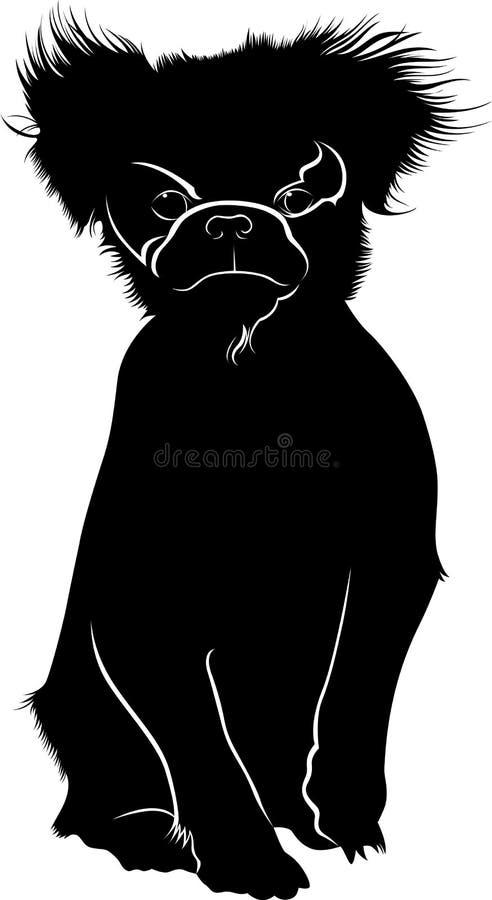 Japansk hakahundavel Japansk haka Hundhusdjur royaltyfri illustrationer