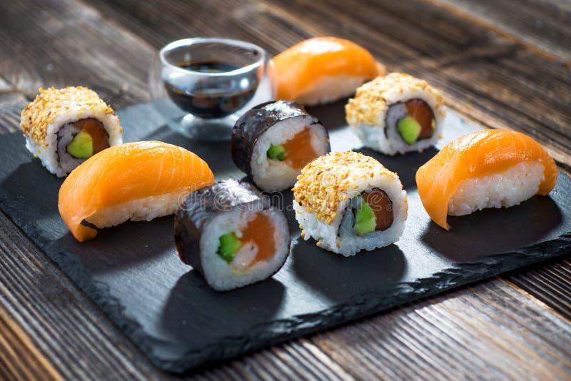 Japansk havs- sushi royaltyfri foto