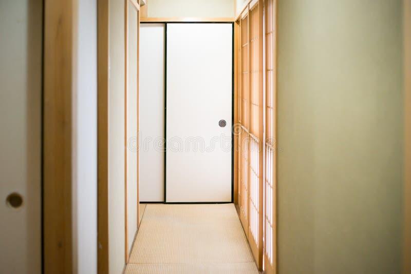 Japansk huskorridor fotografering för bildbyråer