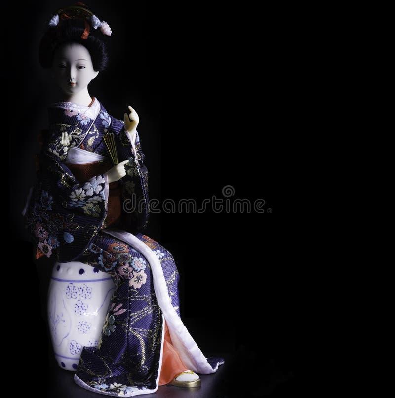 Japansk kimonodocka royaltyfri bild