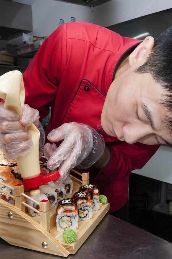 Japansk kock arkivfoton