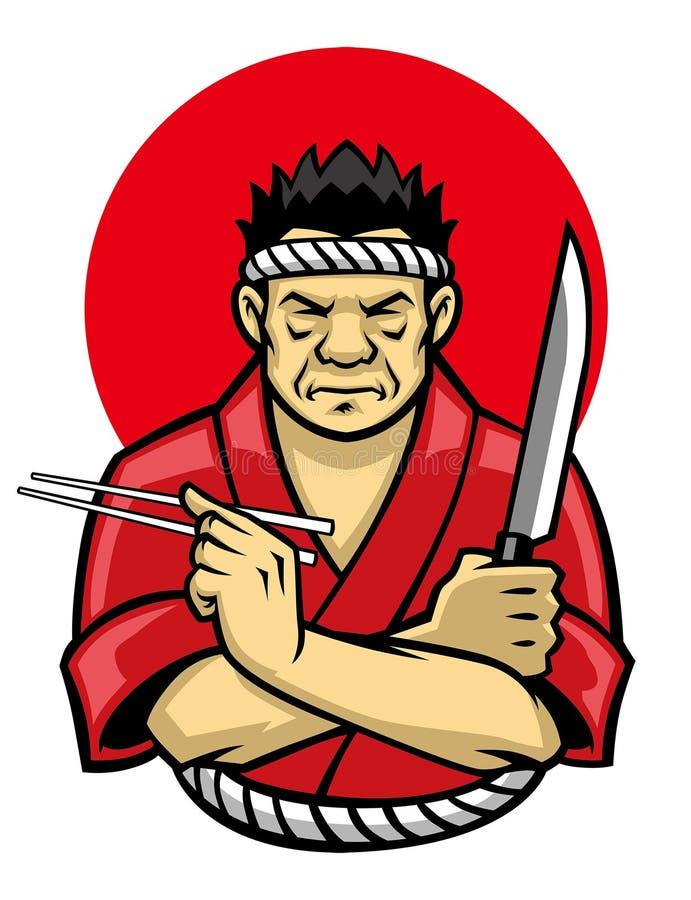 Japansk kockkorsning arm vektor illustrationer