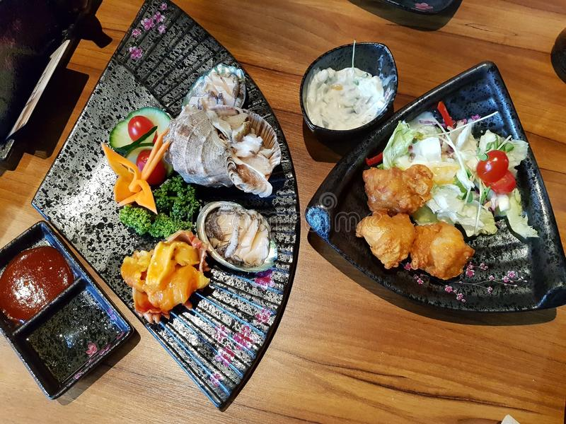 Japansk kokkonst royaltyfria bilder