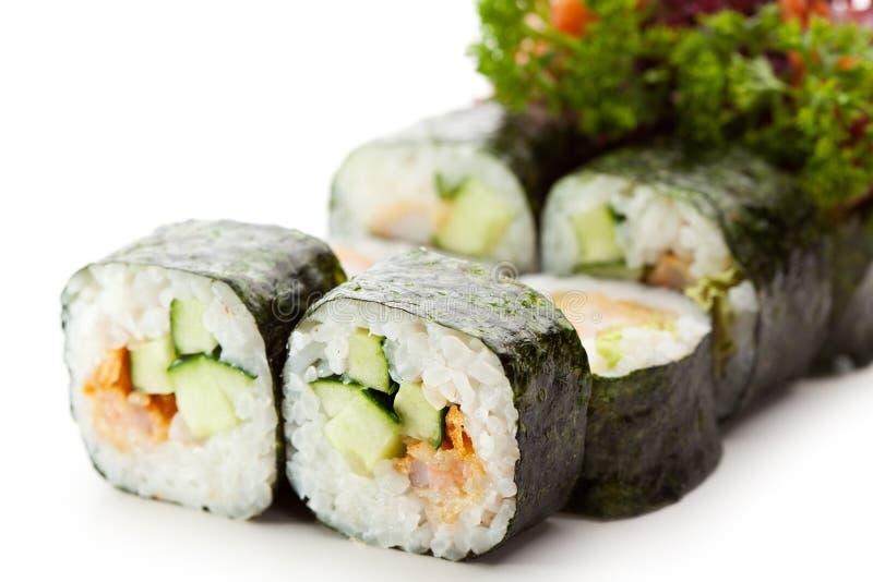 Japansk kokkonst - Sushi arkivbilder