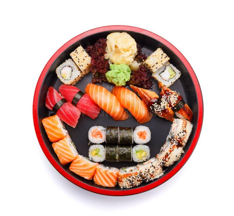 Japansk kokkonst Sushi fotografering för bildbyråer