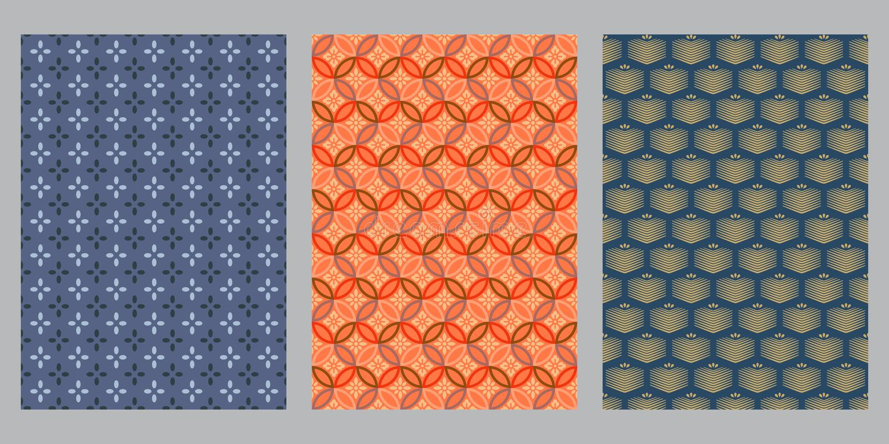 Japansk korsblomma, fyra petalblommor, en abstrakt bakgrund i petal box stock illustrationer