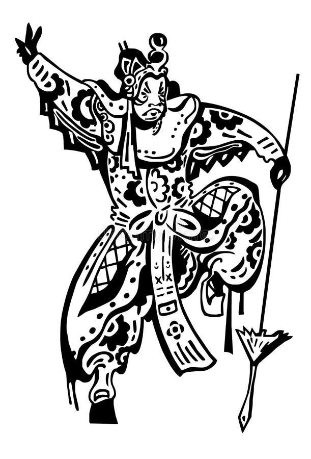 japansk krigare vektor illustrationer