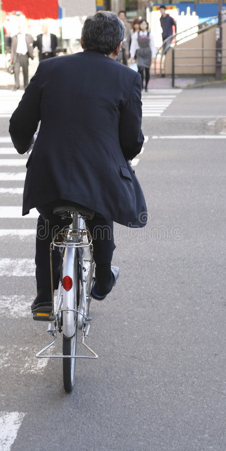japansk lunchtid för affärsman fotografering för bildbyråer