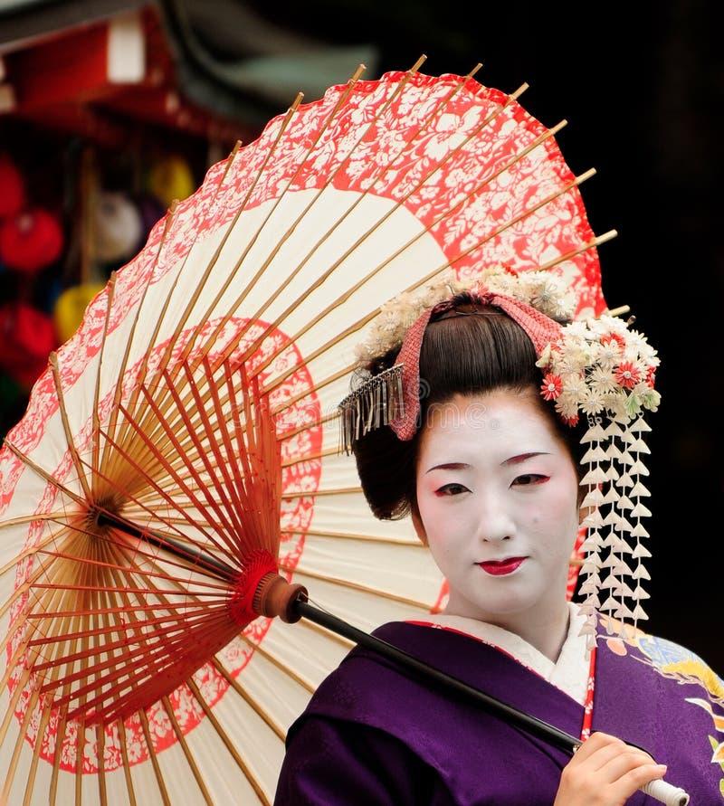 japansk maiko arkivbild