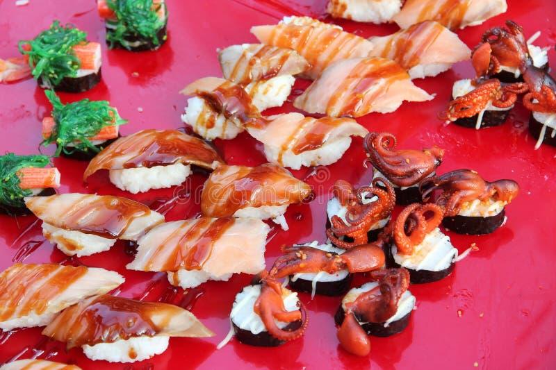 Japansk mat i Thailand royaltyfri foto