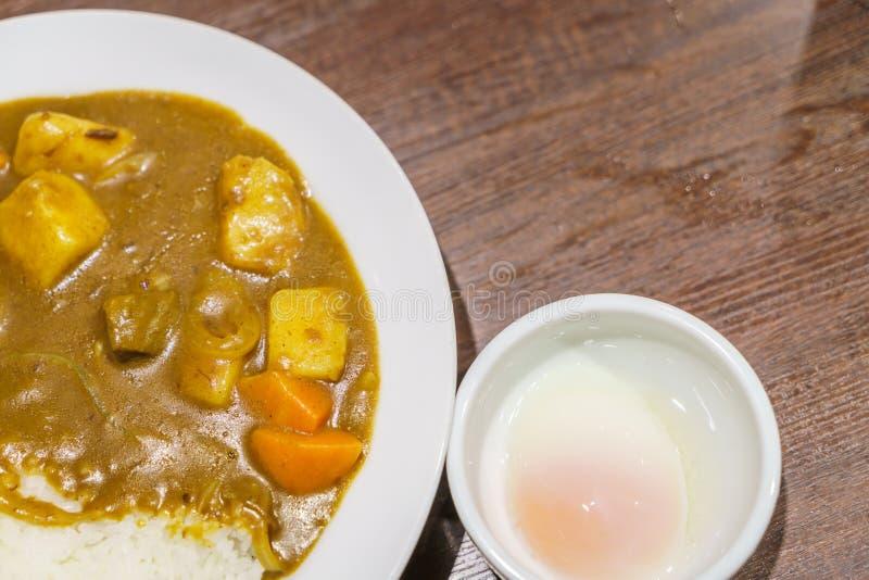 Japansk matcurry med ris royaltyfria foton