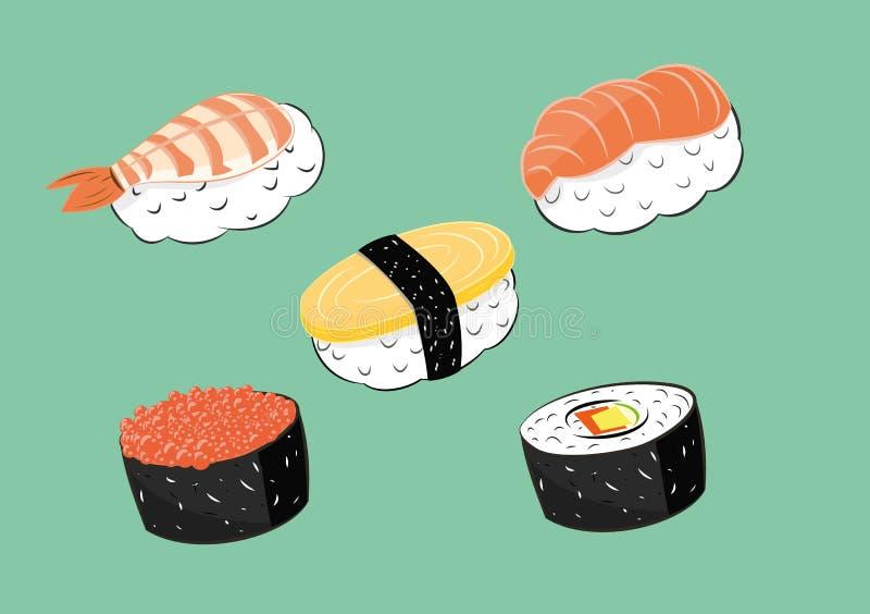 Japansk matsushiuppsättning royaltyfri illustrationer