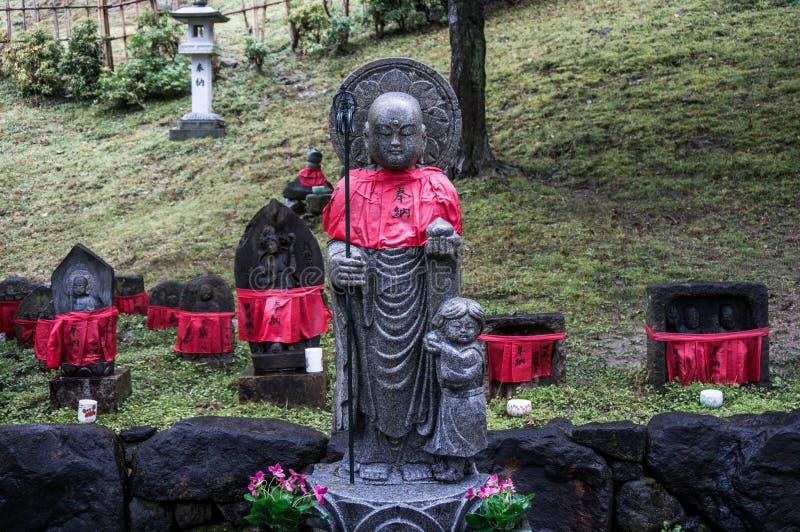japansk monkstaty arkivbilder
