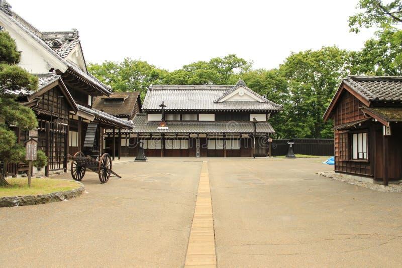 Japansk ninjabyarkitektur royaltyfri fotografi