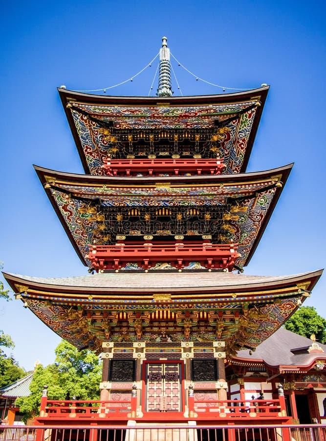 japansk pagoda royaltyfria bilder