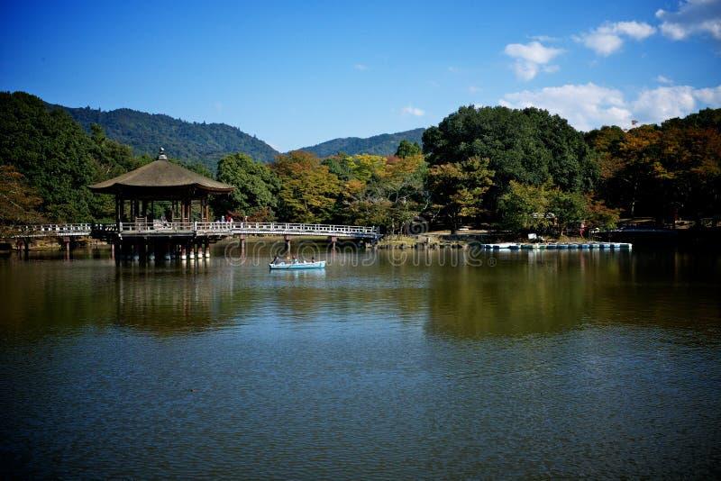 Japansk pavillion i nara Japan arkivbilder