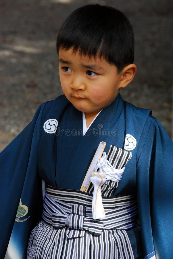 Japansk pojke royaltyfria foton