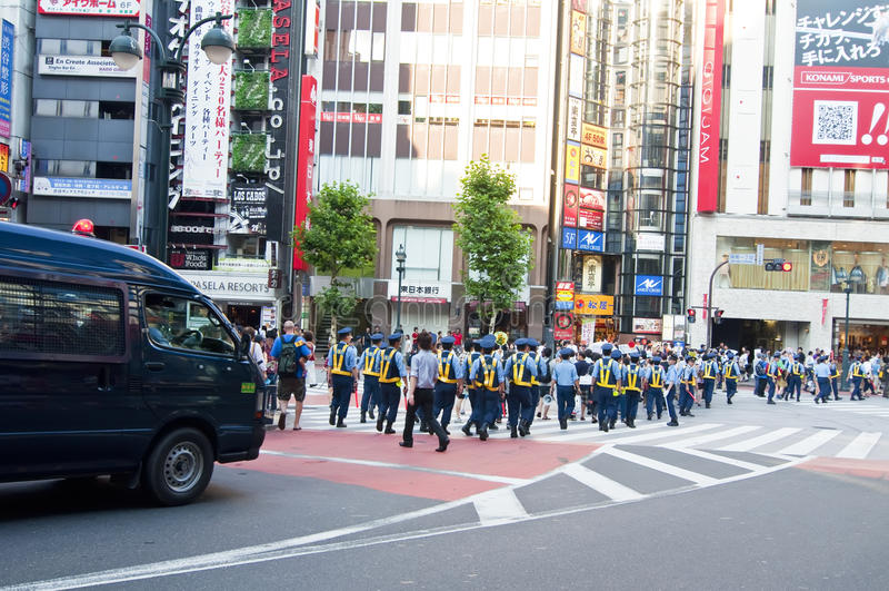 japansk polis tokyo fotografering för bildbyråer