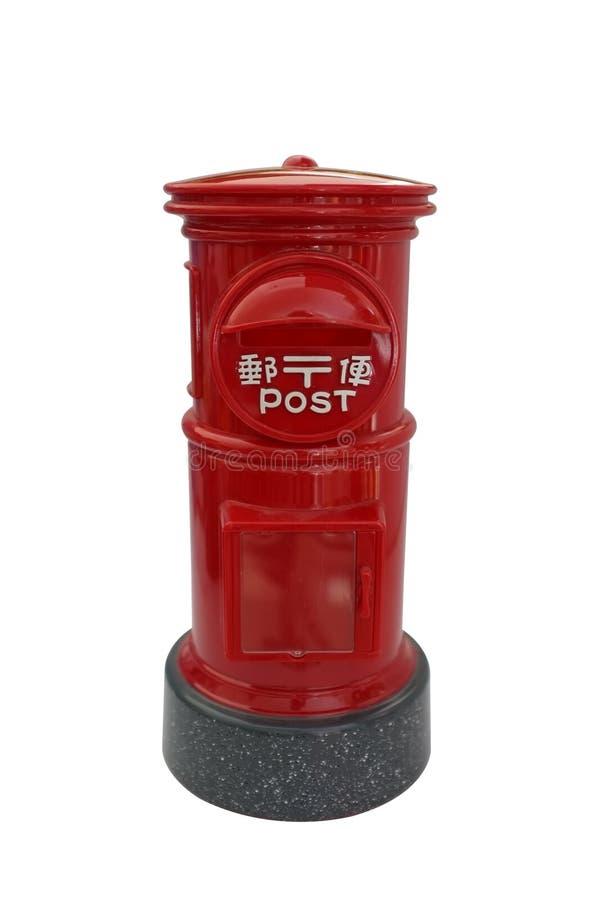 Japansk röd tappningbrevlåda, bokstavsask, postbox royaltyfria bilder