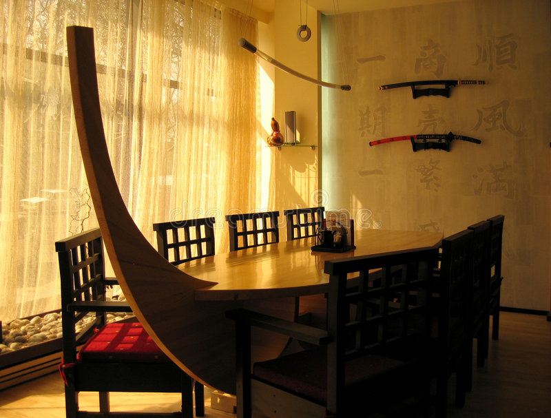 japansk restaurang arkivbild