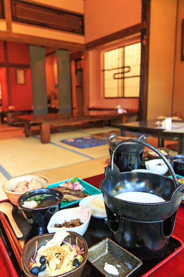 Japansk restaurang med traditionell mat av Hokkaido royaltyfria foton