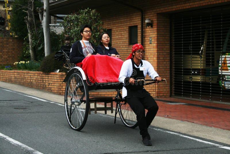 japansk rickshaw fotografering för bildbyråer