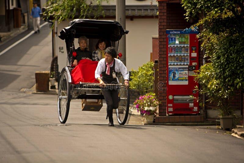 japansk rickshaw arkivfoton