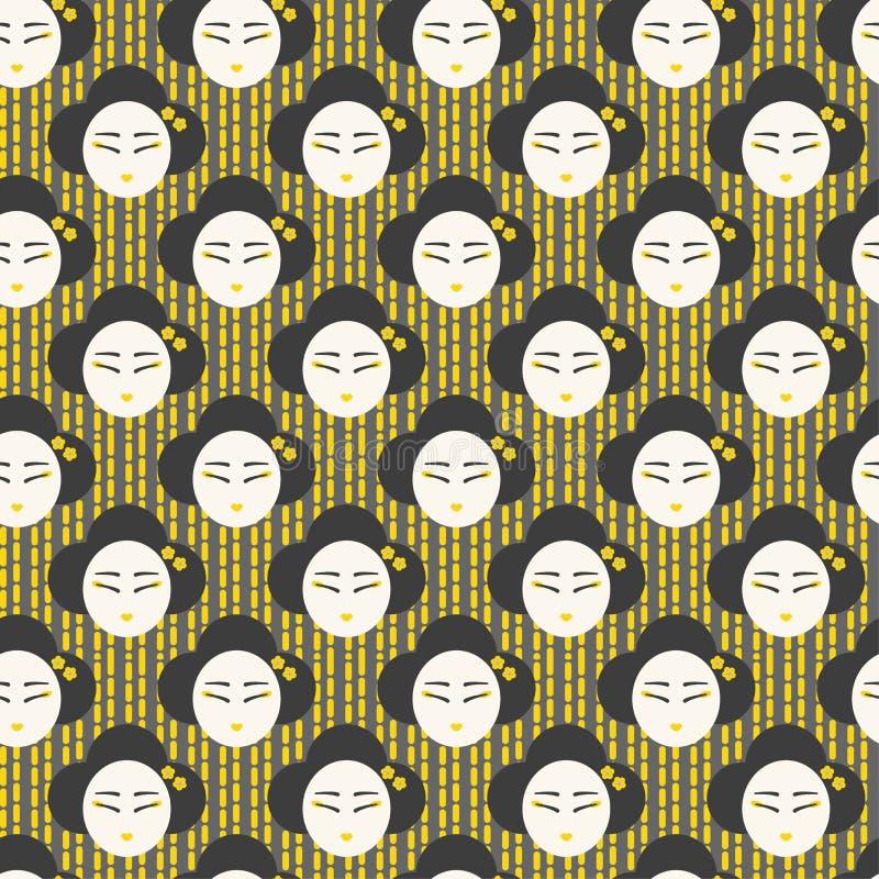 Japansk sömlös framsidakvinnamodell royaltyfria bilder