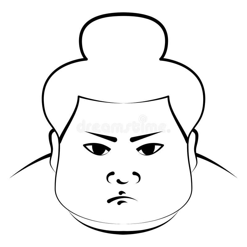 japansk sumobrottare vektor illustrationer