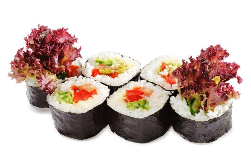 japansk sushivegetarian för kokkonst arkivbild