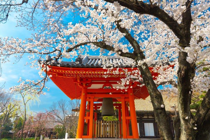Japansk tempel på våren royaltyfri fotografi