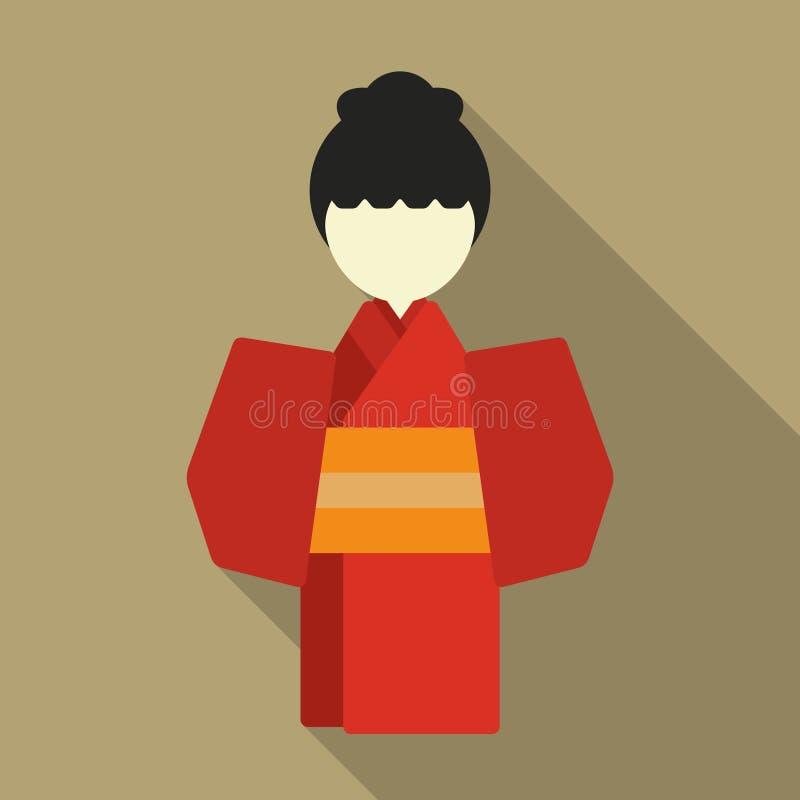 Japansk traditionell klänningillustration royaltyfri illustrationer